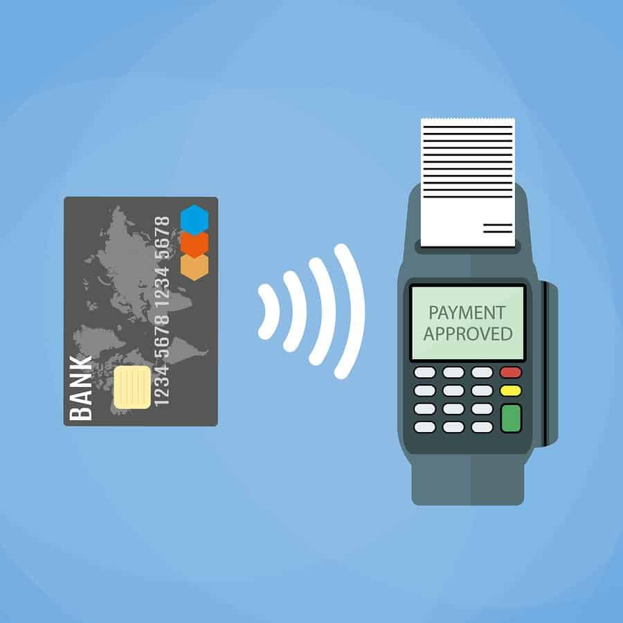 Payments using terminal and debit credit card