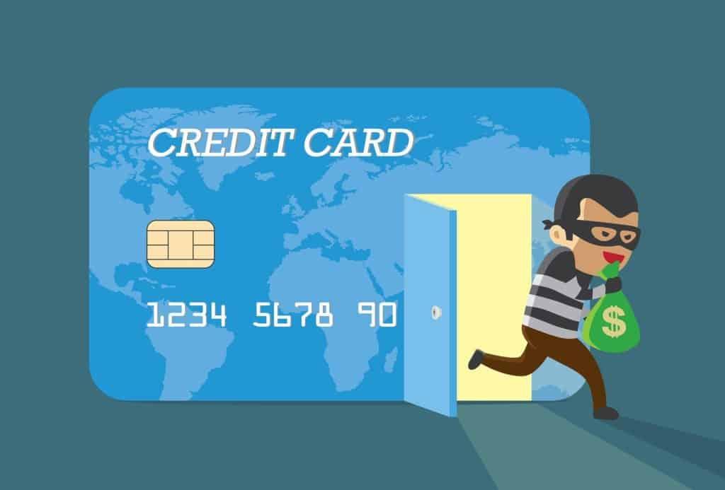 Thief stealing credit card data/money