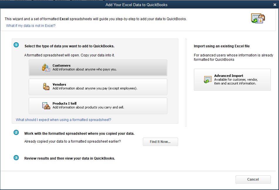 Import Customers In QuickBooks Desktop