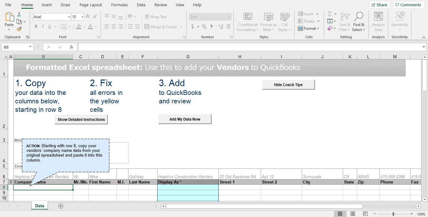 How To Import Vendors Into QuickBooks Pro
