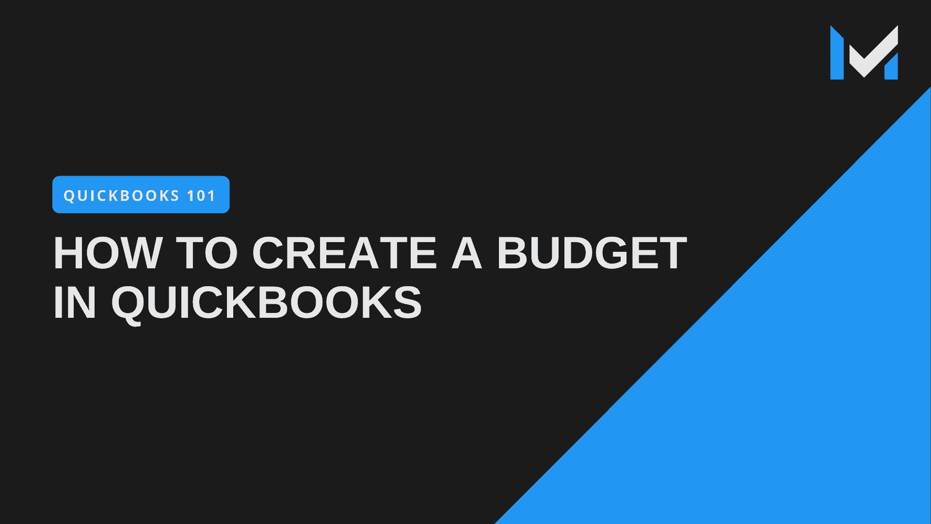 How To Create A Budget In QuickBooks Pro