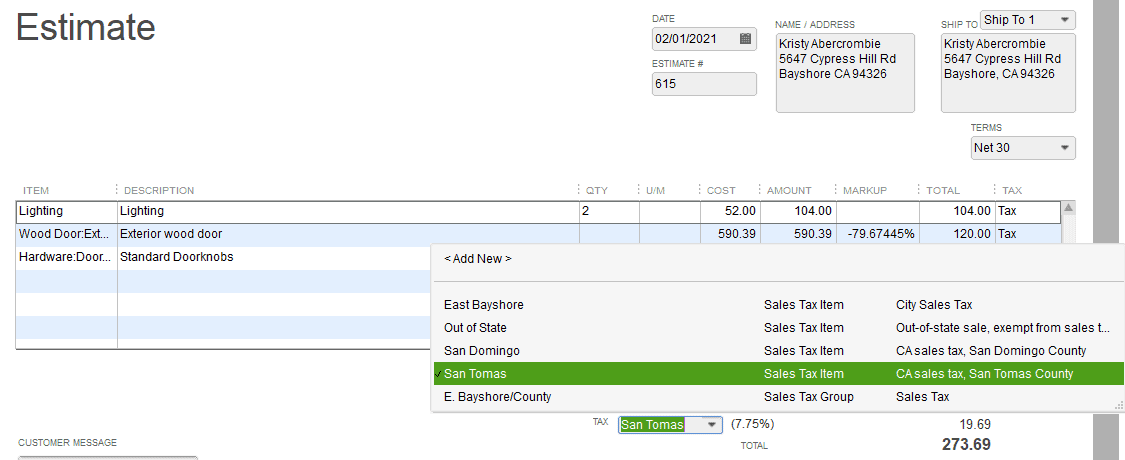 How to Create an Estimate in QuickBooks Pro