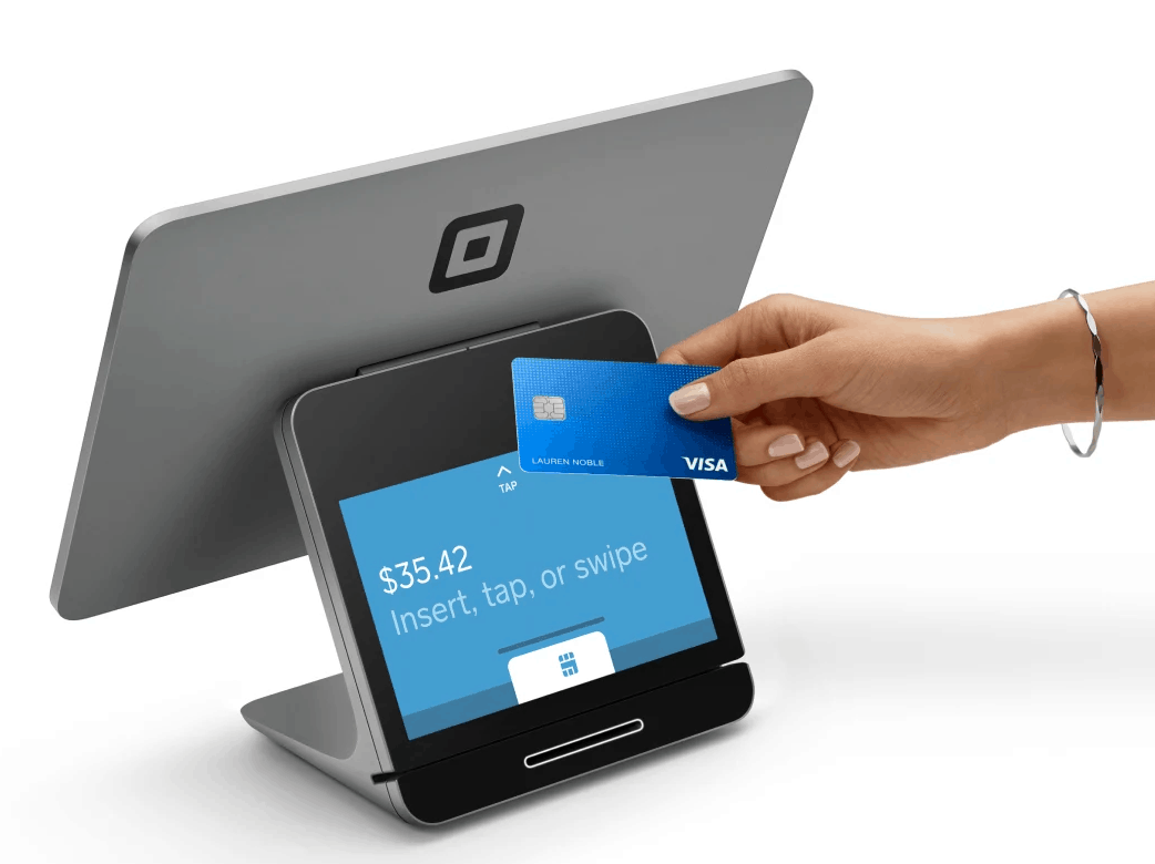 square register with credit card