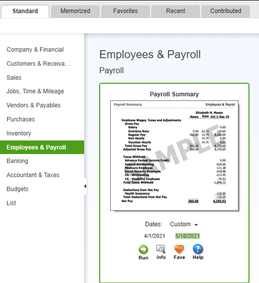 How To Run Payroll Reports In QuickBooks