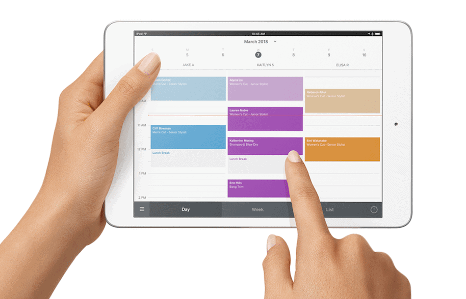 The Square POS app is easy to use