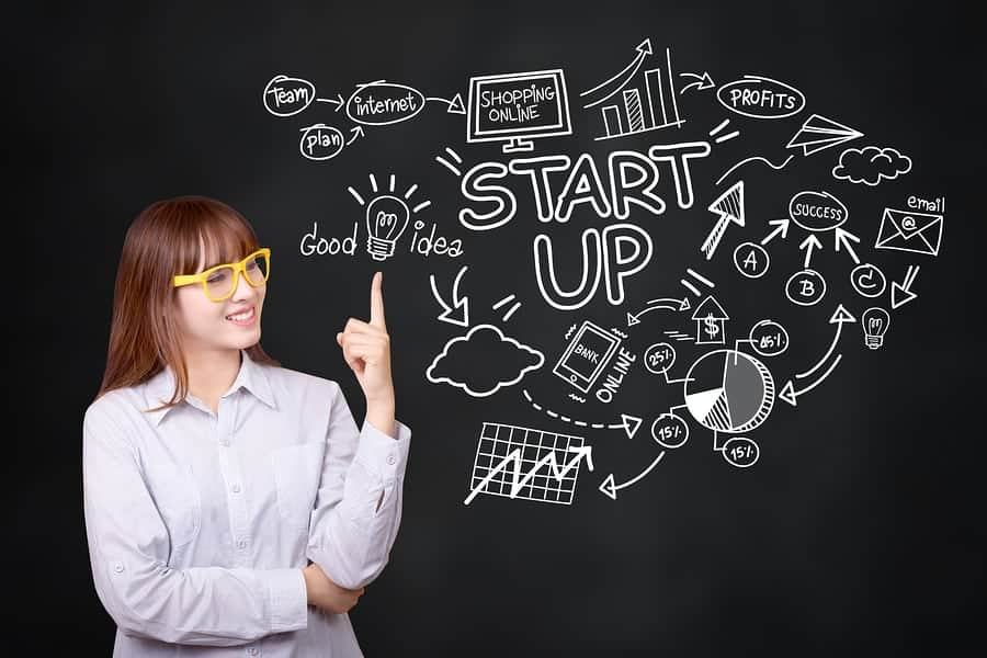 woman looking for startup loans