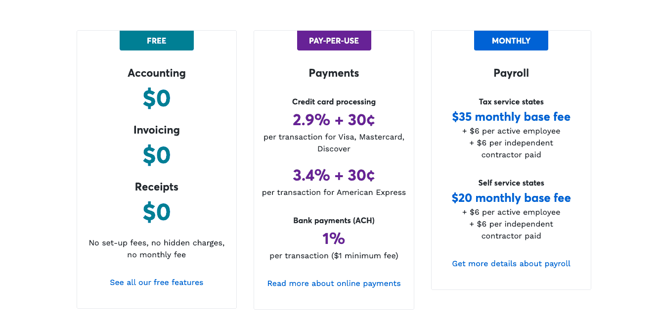 Freshbooks VS Wave pricing