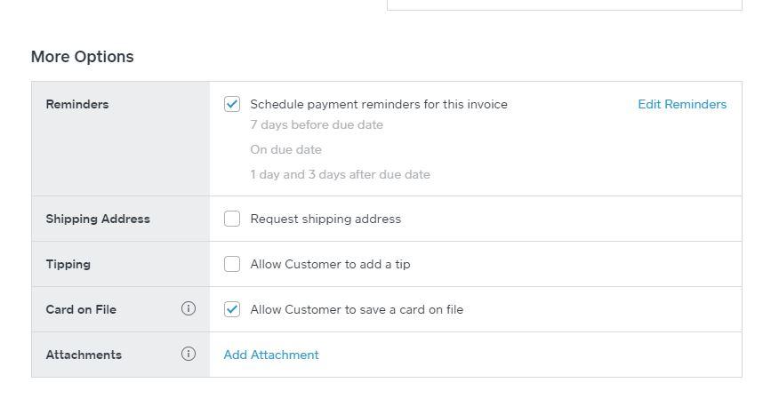 Adding attachments to Square Invoice