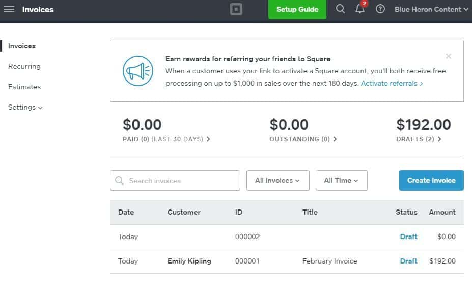 square invoices: best invoicing and payments software