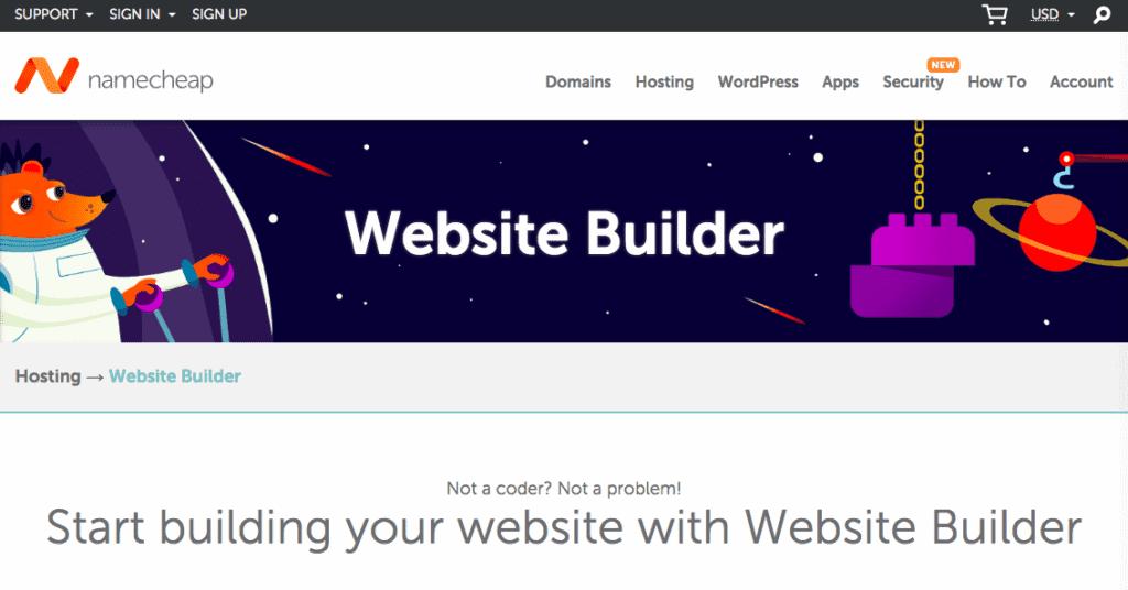 Namecheap Website Builder Review