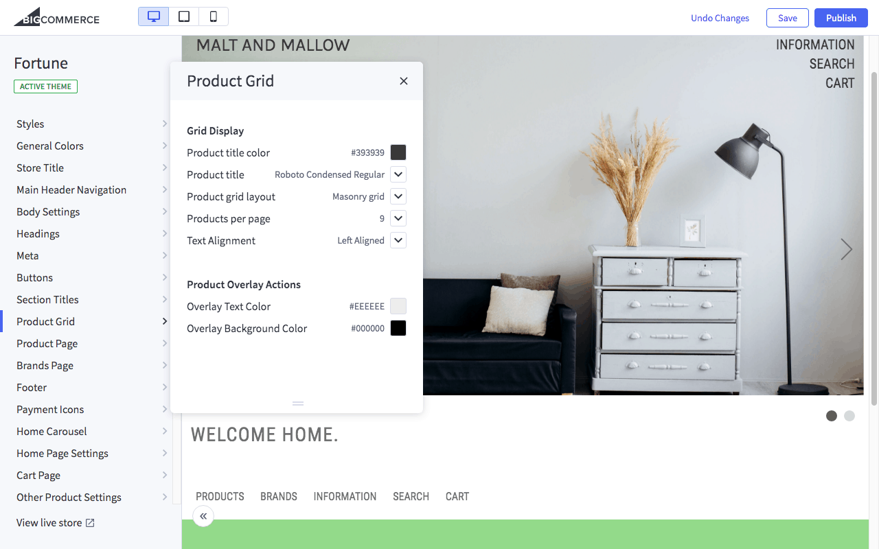 BigCommerce web design tools