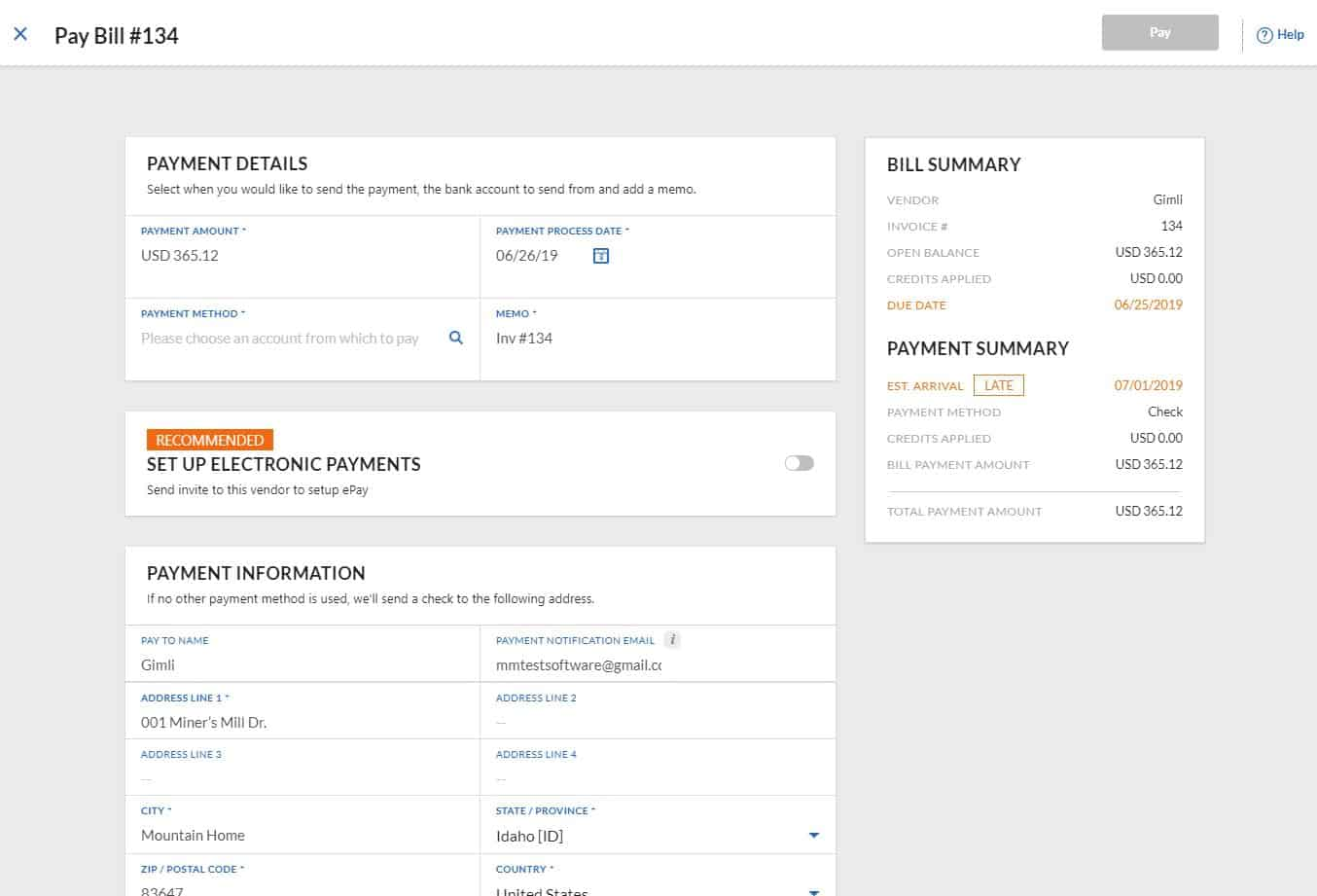 review of bill.com's accounts payable features