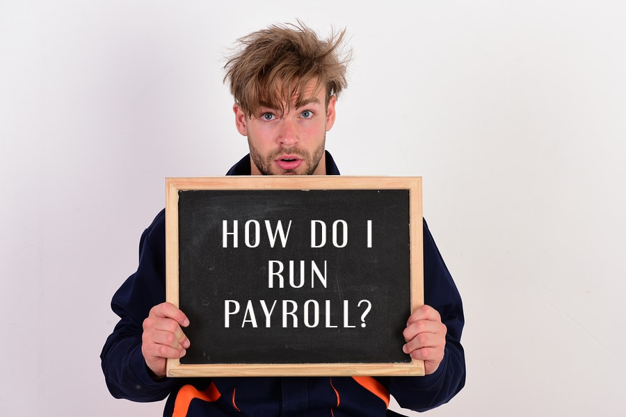 Confused payroll boss