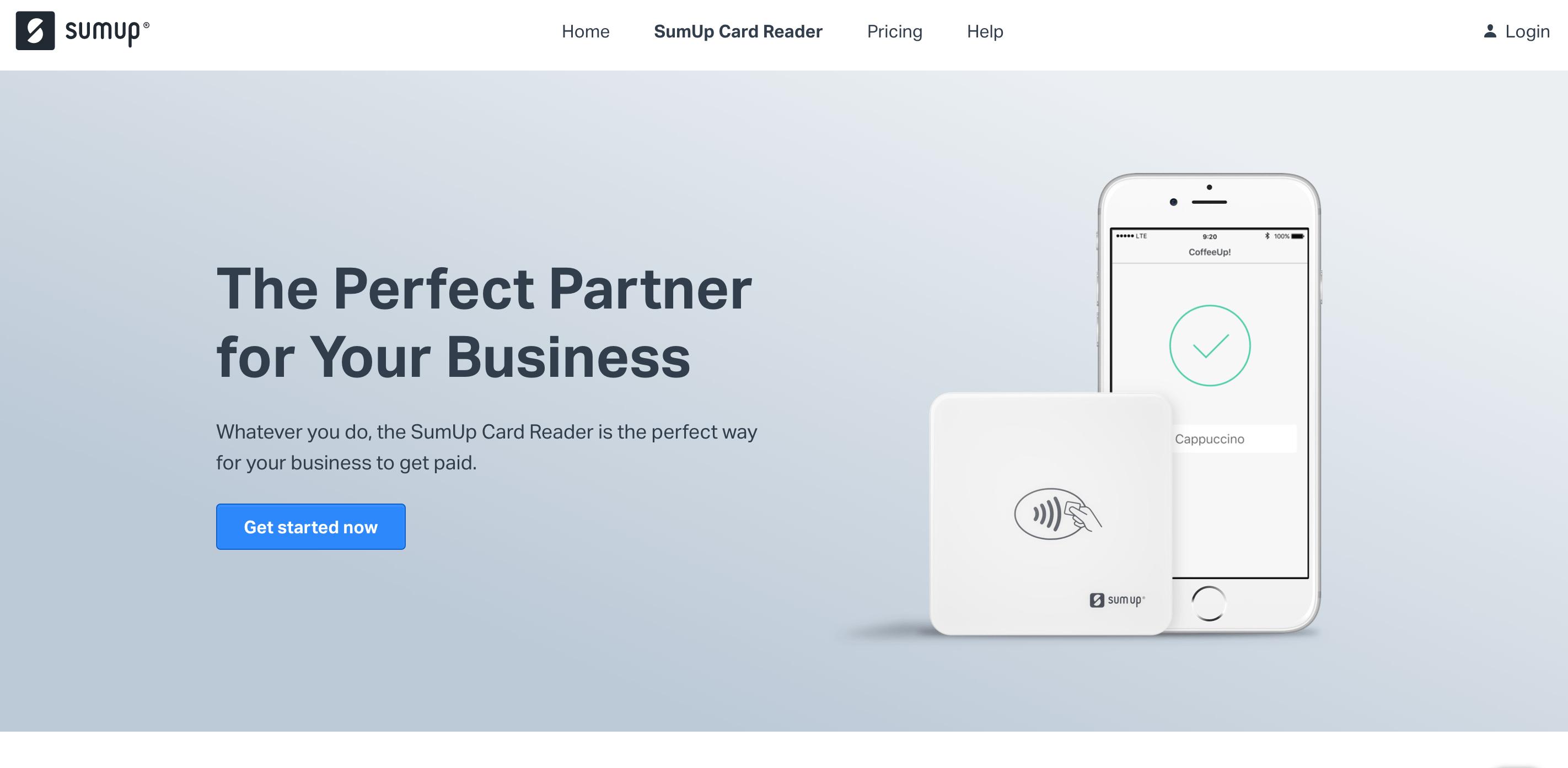 SumUp website screenshot