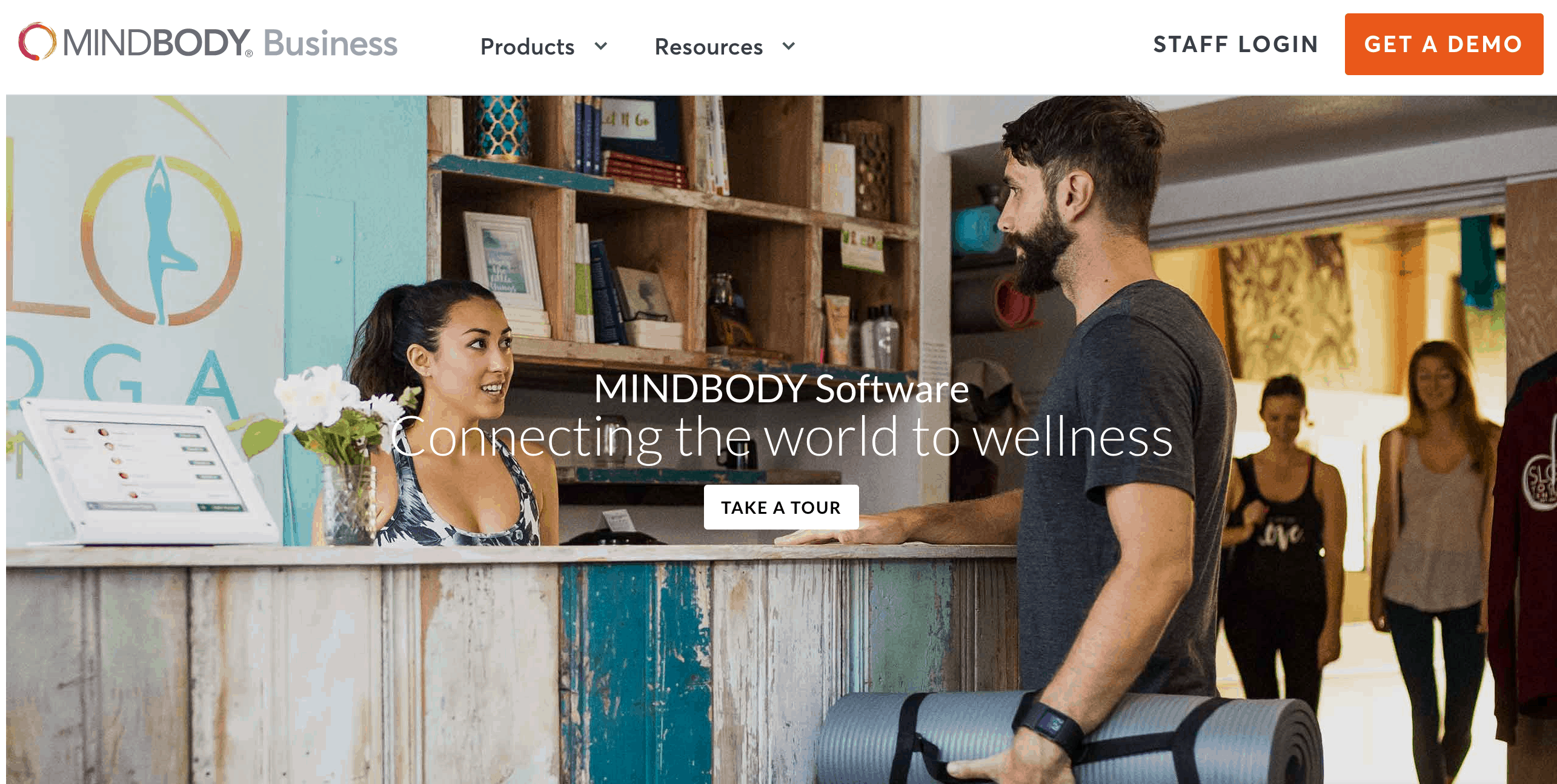 MINDBODY website screenshot