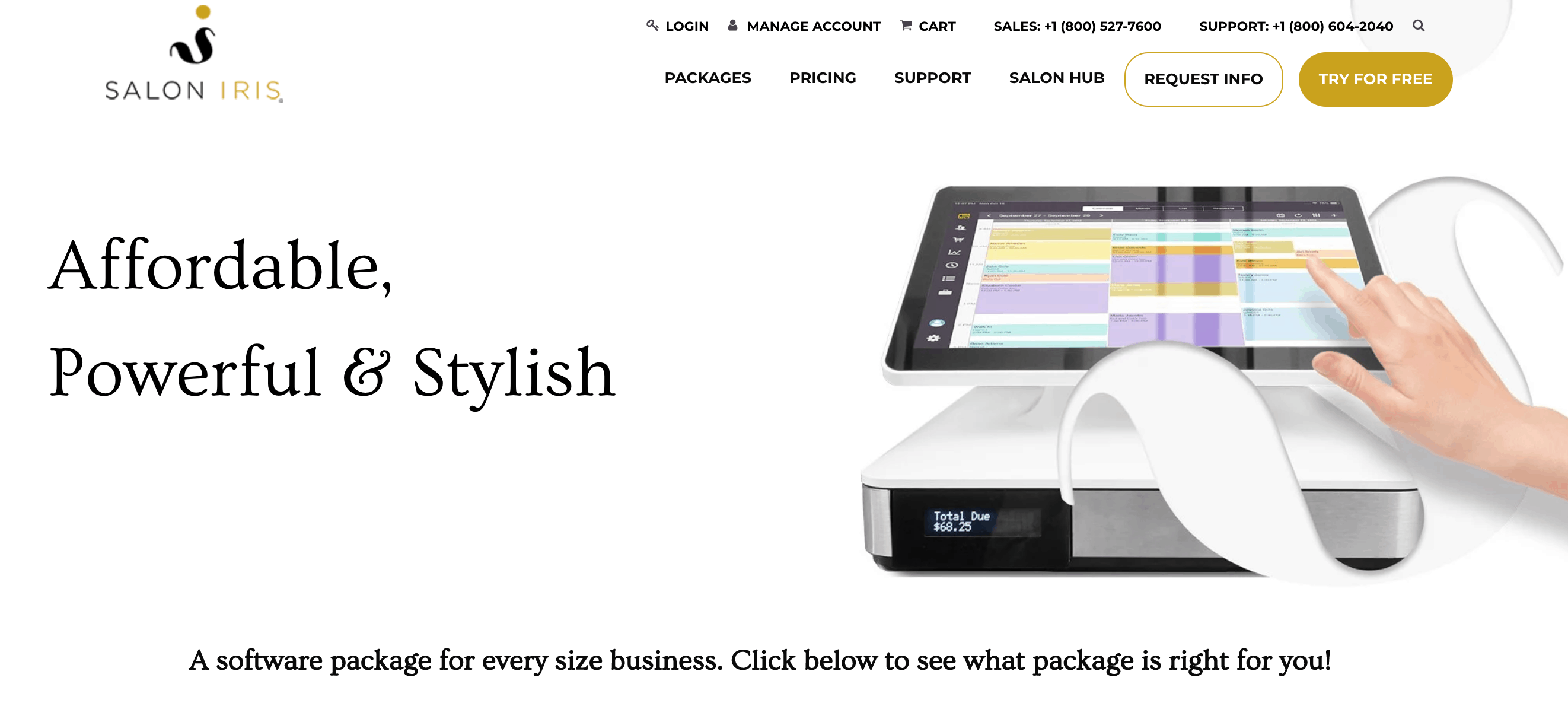 salon iris website screenshot