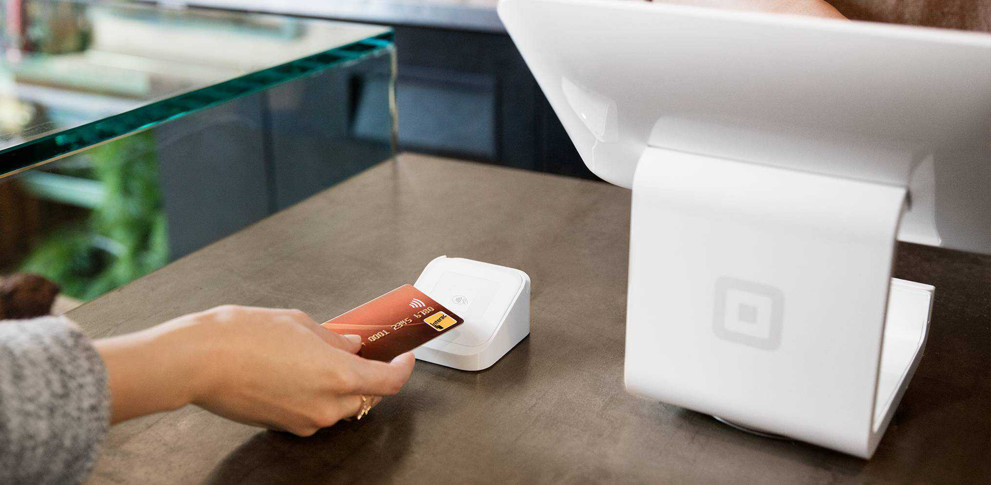 square stand with contactless card reader