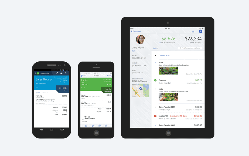 QuickBooks Online iOS and Android apps