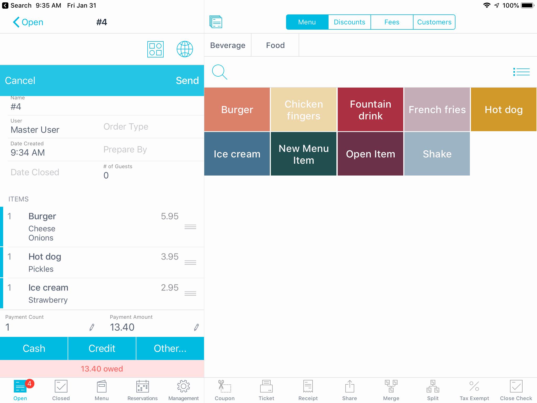 ambur pos open orders screenshot