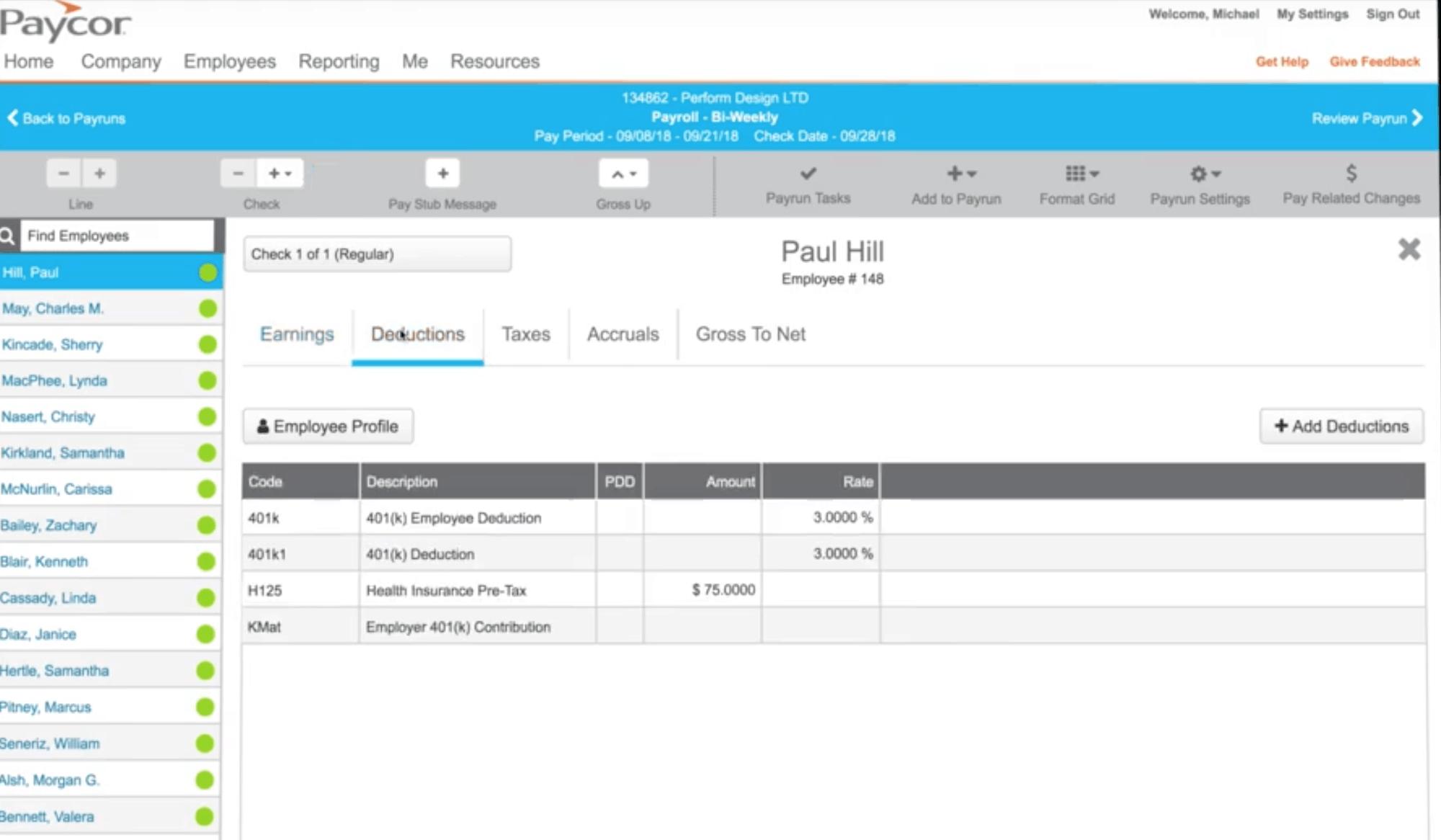 Paycor employee portal