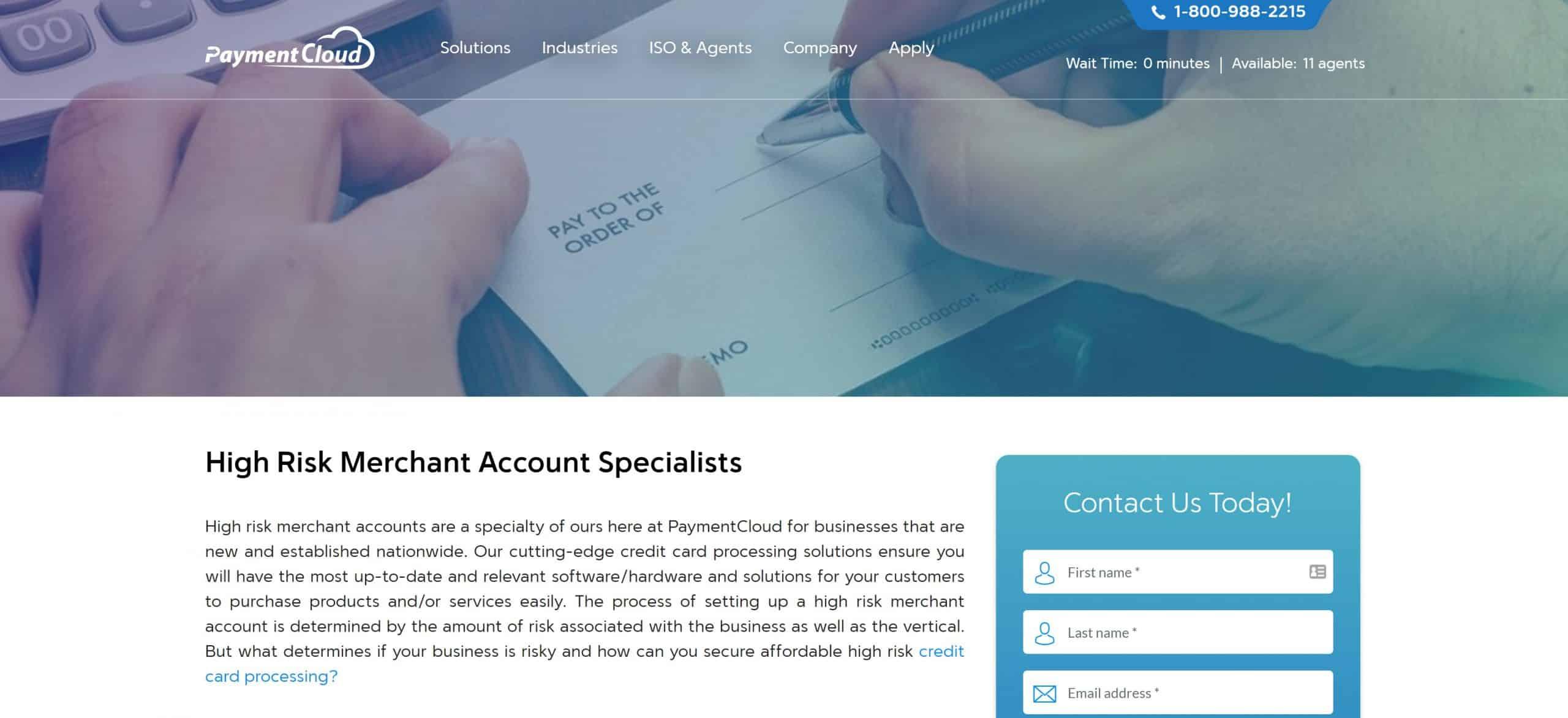 PaymentCloud High Risk Screenshot