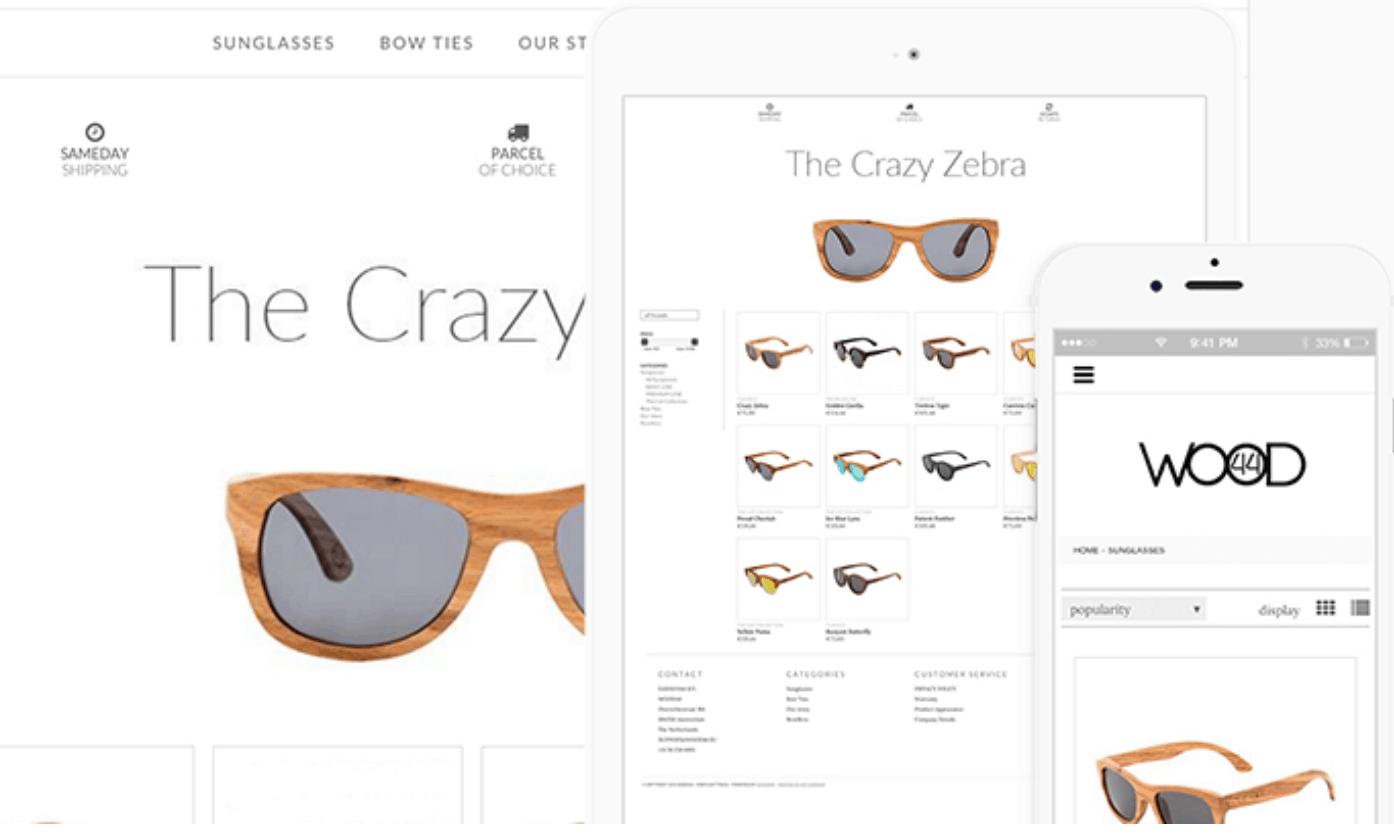 lightspeed ecommerce website on desktop, ipad, and mobile