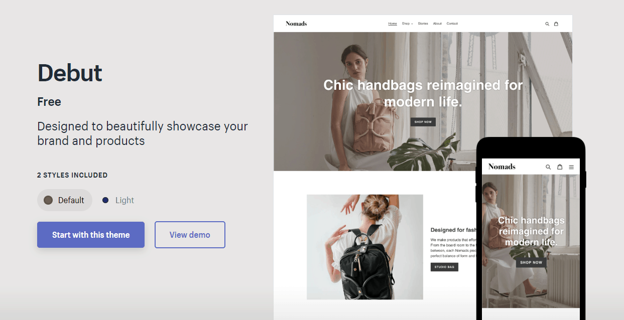 shopify mobile friendly design