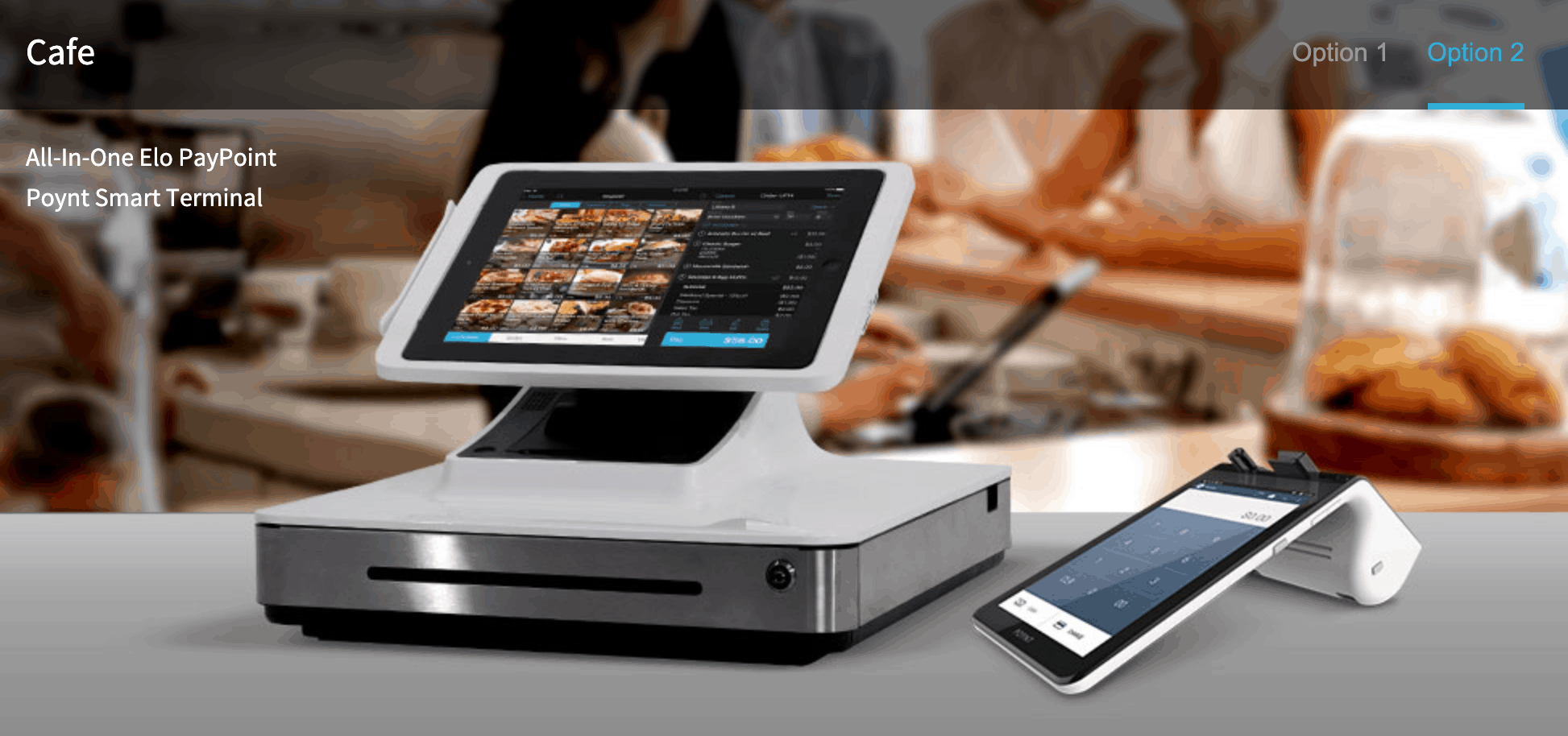 talech cafe pos hardware bundle with elo paypoint, ipad, and poynt smart terminal