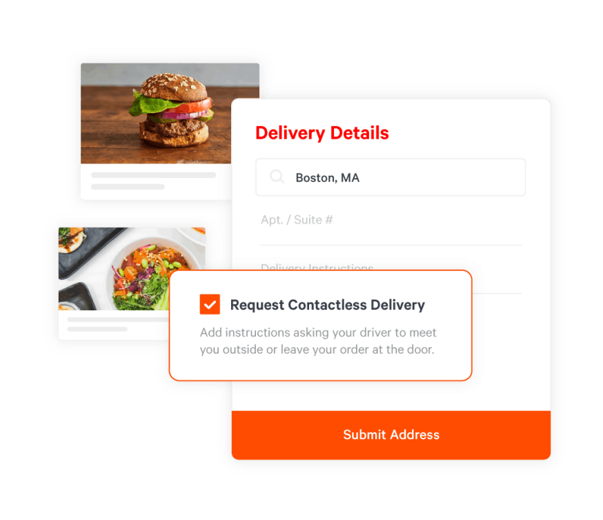 toast contactless delivery option