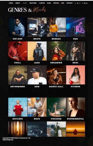 Screengrab of RhythmCouture.com
