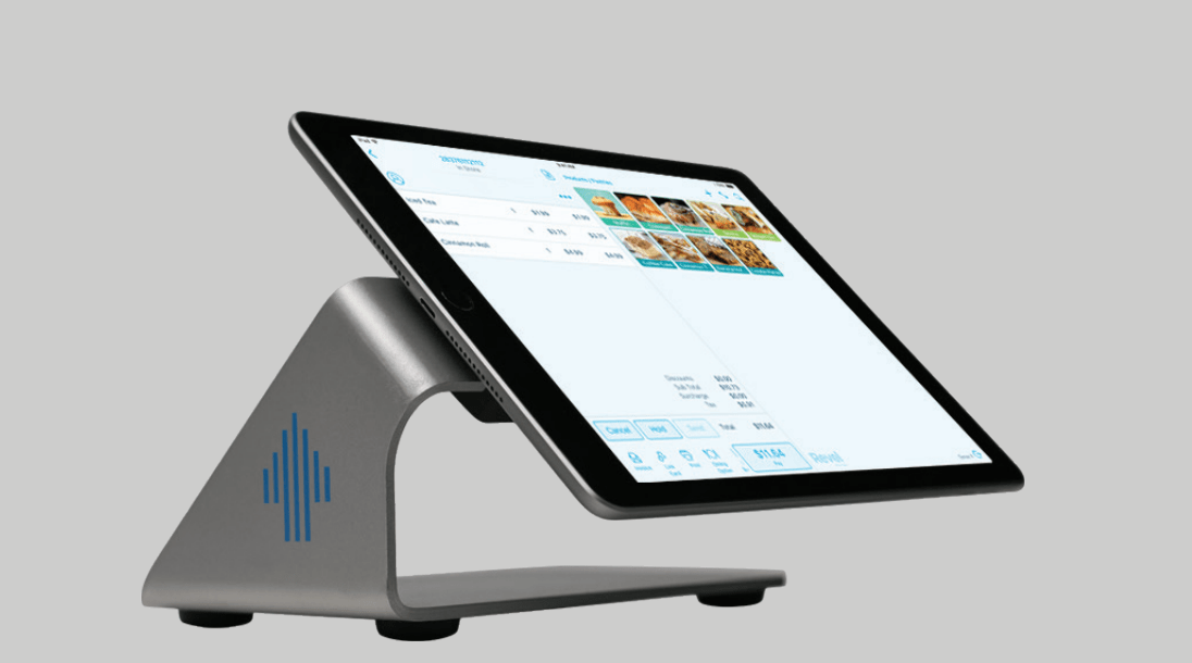 revel pos on iPad with stand