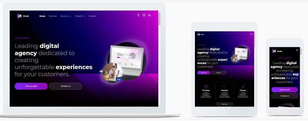 duda desktop and mobile templates