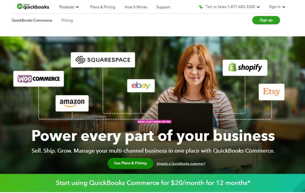 quickbooks commerce sale