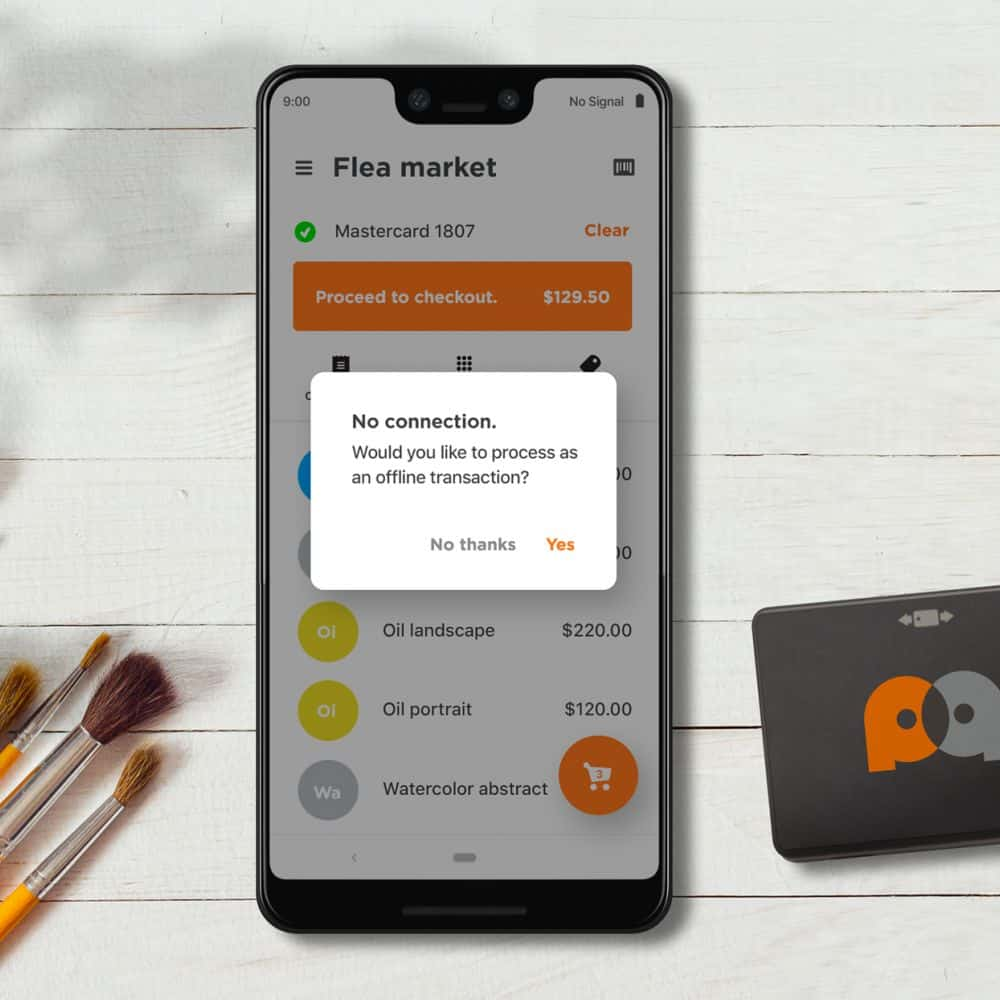 offline transaction on payanywhere mobile device