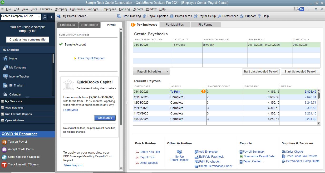 QuickBooks Desktop Payroll Review