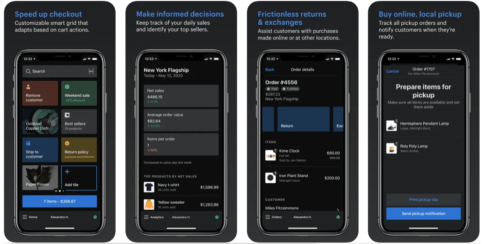 Screengrab of Shopify Lite functions